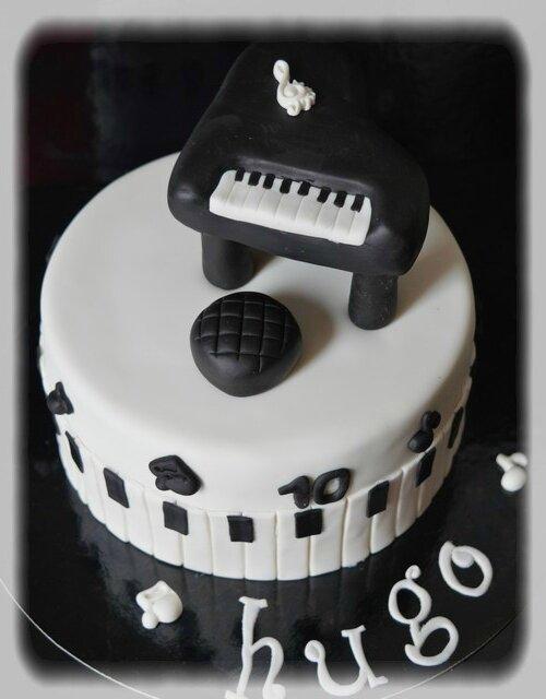 Gâteau piano n°2