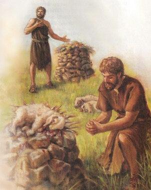 Adam et Ève-Ca&Ab-préparation des offrandes des deux frères
