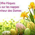 Promo pâques et planning avril