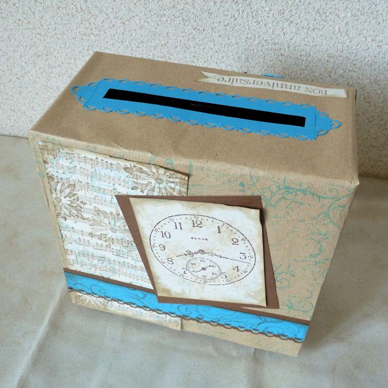 Urne les ateliers carterie d 39 yvette - Fabriquer une urne anniversaire ...
