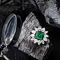 A fine emerald and diamond brooch-pendant necklace, by harry winston