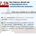 Le point sur… l'interdiction de la construction des minarets en suisse (1)