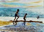 -2014-Jeux de plage - 46x33 cm