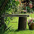 Au jardin: banc improvisé