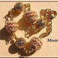 Bracelets boules perlées