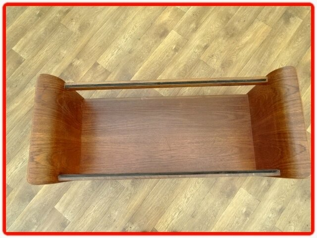 table teck Tulipe G. Plan 1950