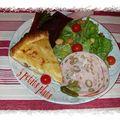Tarte au reblochon de savoie et jambon cru