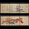 Satake eikai (1803 - 1874), spring and autumn, edo period (1615-1868), 19th century
