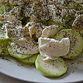 Salade courgettes - mozarella