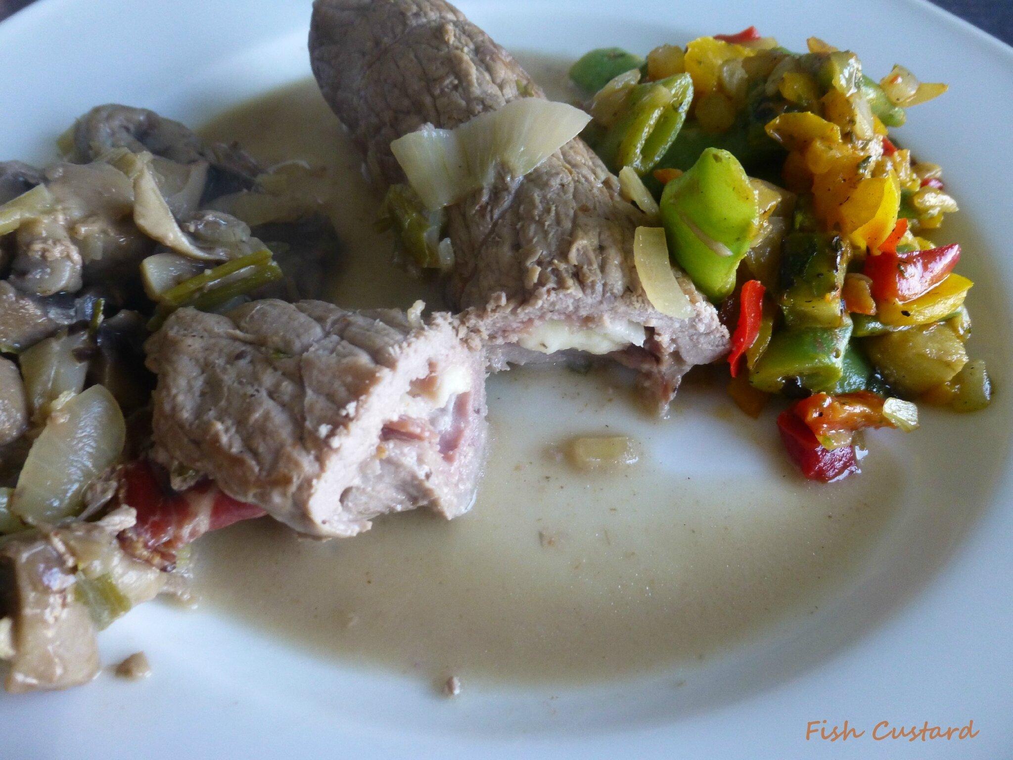 Bocconcini (roulés de veau, jambon cru et mozzarella)
