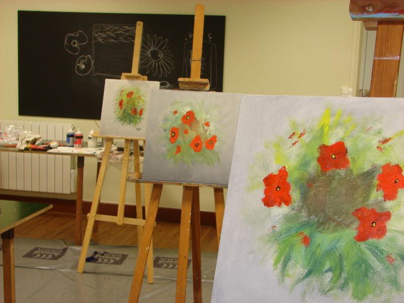 Une technique pour peindre les arbres l 39 acrylique - Peindre sur peinture acrylique ...
