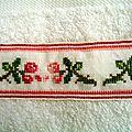 serviette à main aux roses 7