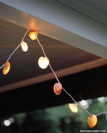 guirlande lumineuse coquillage