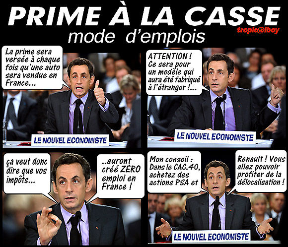 prime la casse expliqu e par nicolas sarkozy sarkozix le num ro 1 des blogs d 39 humour et de. Black Bedroom Furniture Sets. Home Design Ideas
