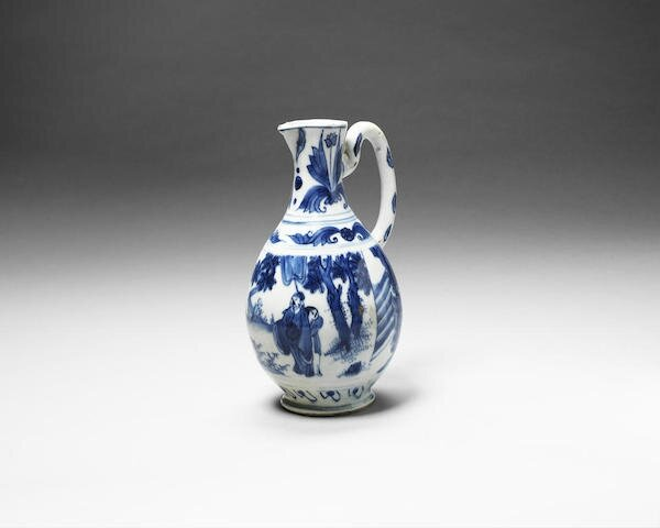 A blue and white jug, Chongzhen