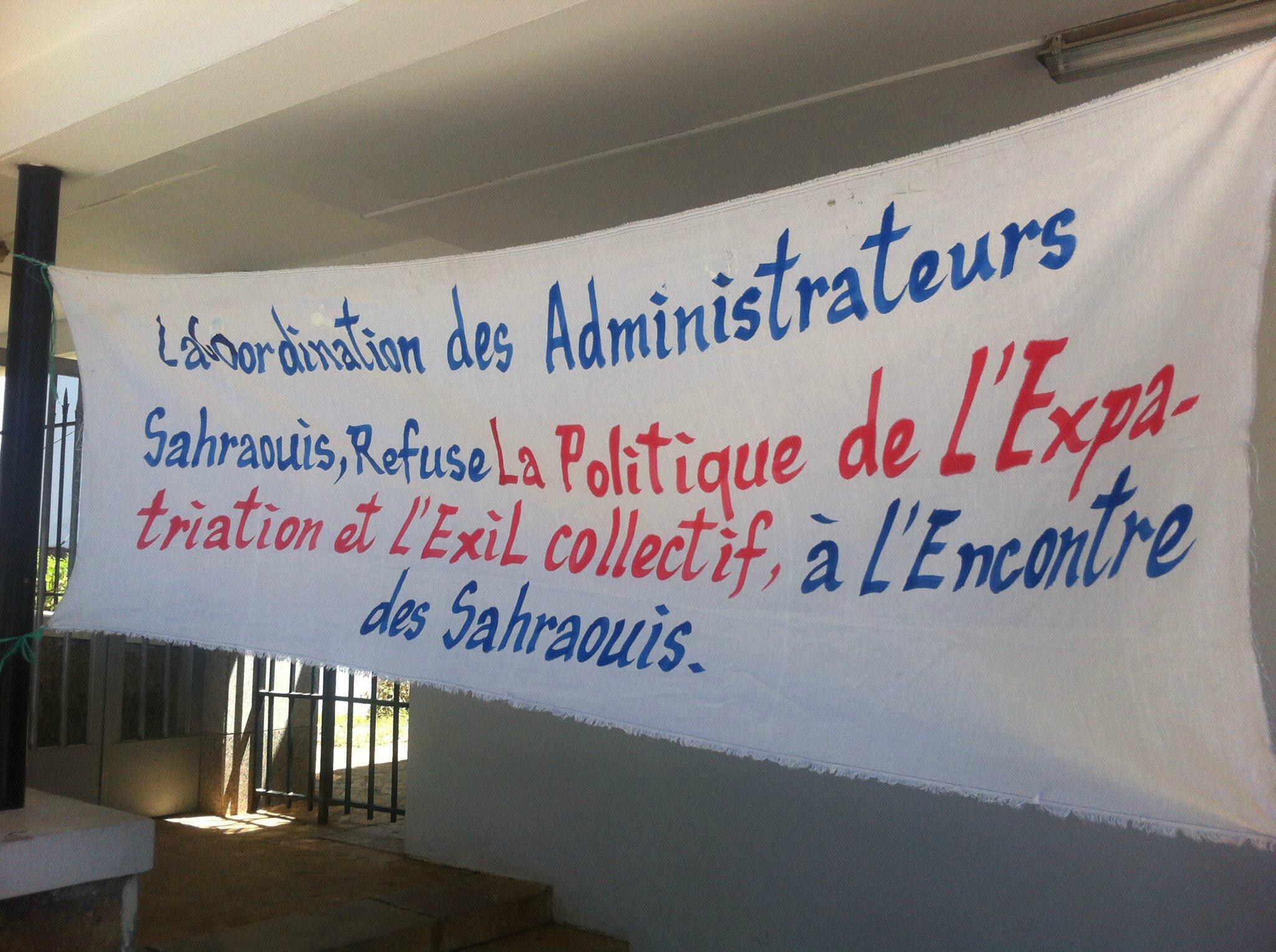 Sit in de la coordination des administrateurs sahraouis for Le ministere de l interieur