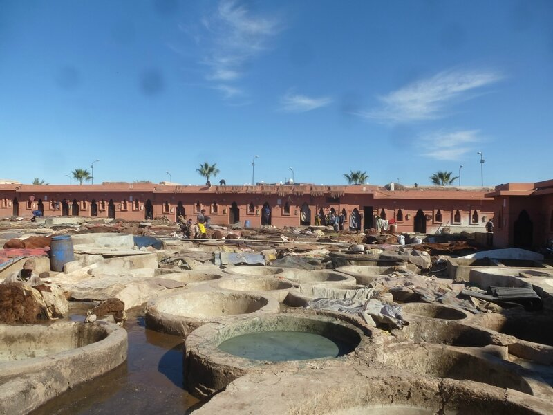 les tanneries de Marrakech (2)