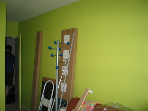 peinture vert lime photo de la chambre n 1 tout en damidot. Black Bedroom Furniture Sets. Home Design Ideas