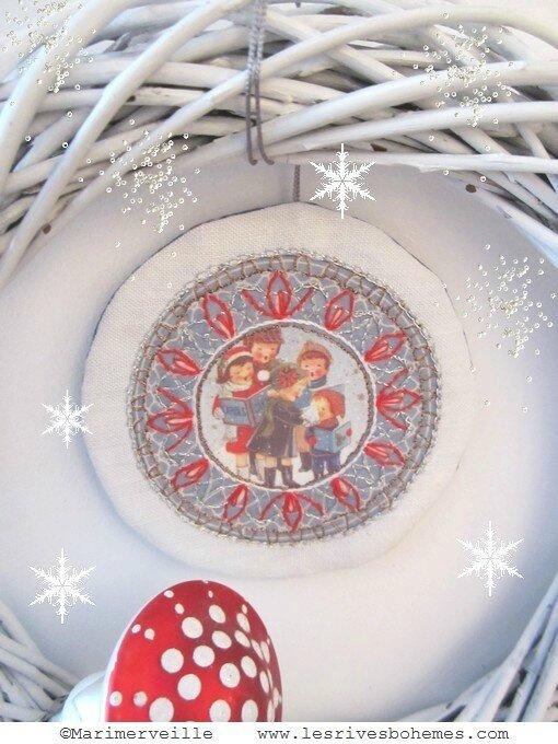 Marimerveille couronne Chant de Noël flocons