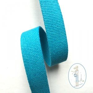 sangle-coton-30mm-turquoise