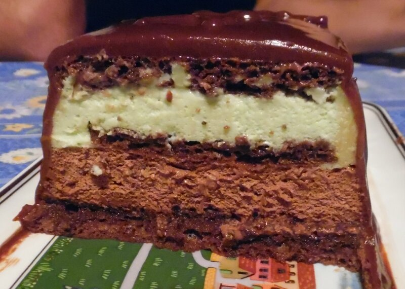 gateau choco mint coupé