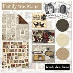 Kit Atelier Multi Albums de Janvier 2015 par Christine
