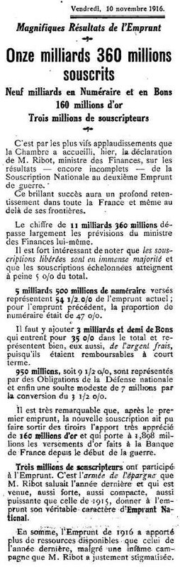 Emprunts 1916-1