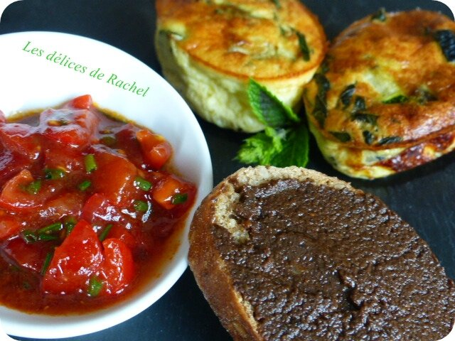 Flan courgettes plat