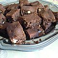 Brownie amandes-noix de cajou-chamallows