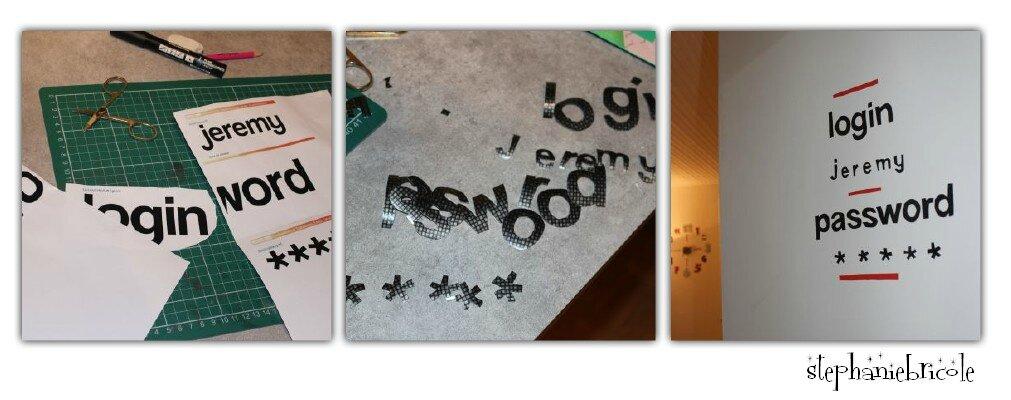 diy deco pour chambre d ado un sticker de porte pour geek st phanie bricole. Black Bedroom Furniture Sets. Home Design Ideas