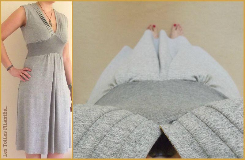 Assez Robe burda jersey gris et capel moutarde3-004 - Photo de 1  VV66