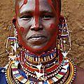 Les perles colorées massaï