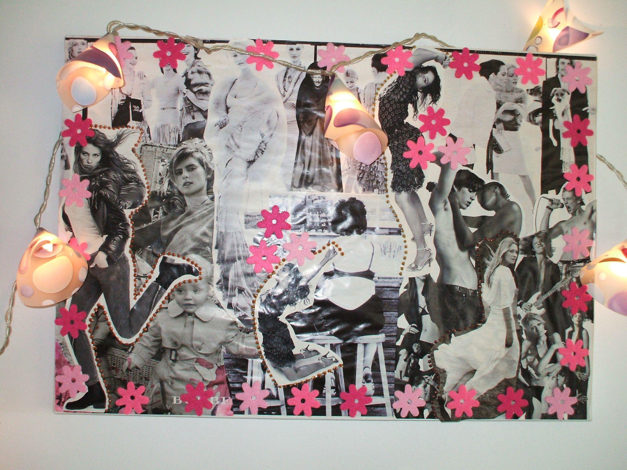 Mes petites cr ations collage papier decopatch l ments - Creation tableau photo ...