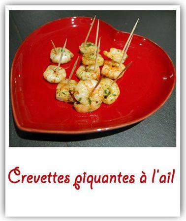 Crevettes piquantes à l'ail
