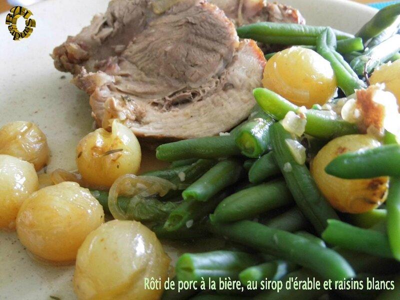 1002 Rôti de porc à la bière, au sirop d'érable et raisins blancs Couv