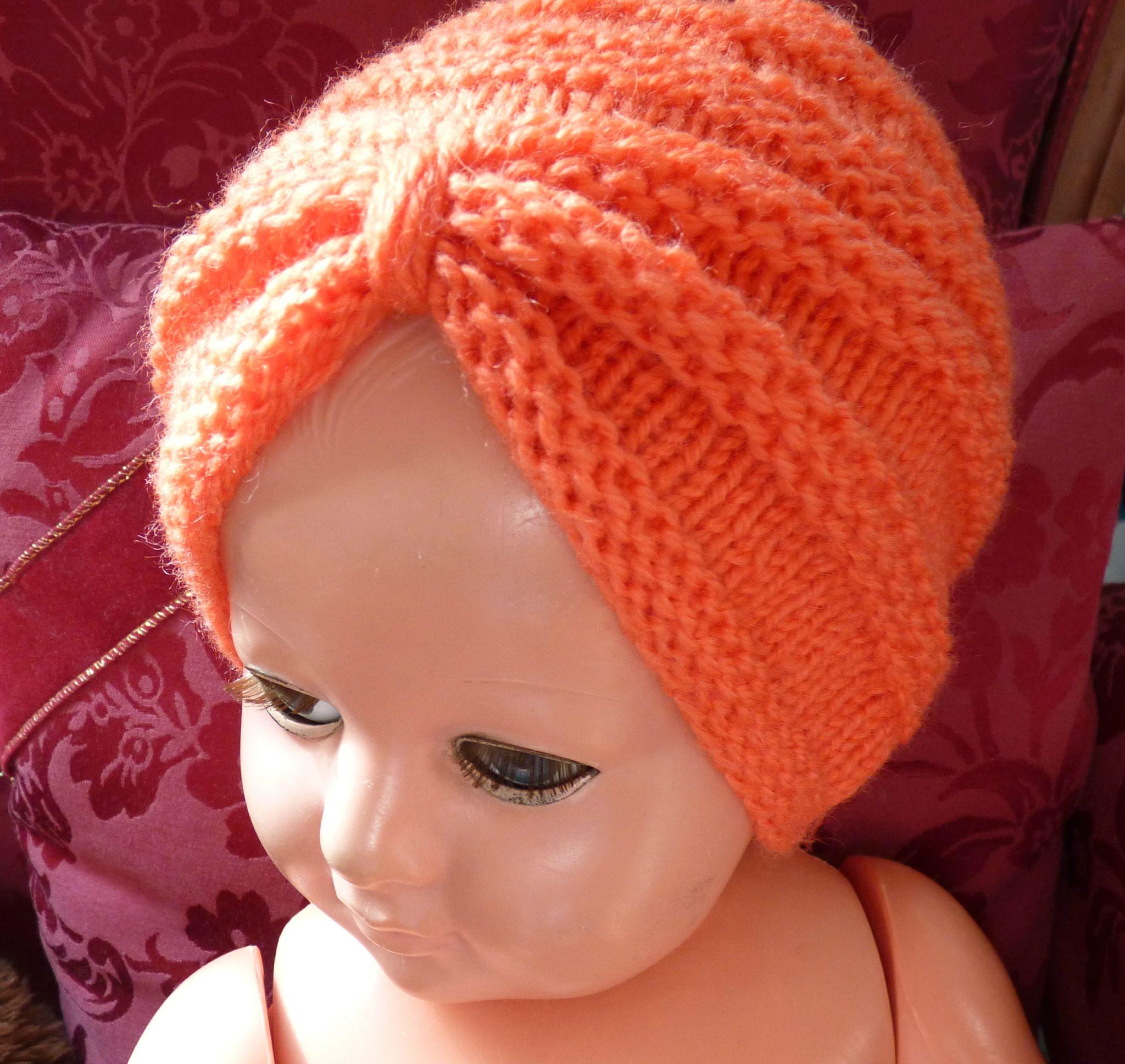 tricoter un bonnet turban
