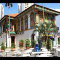 Singapour, maison colorée
