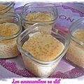Crèmes coco aux perle du japon