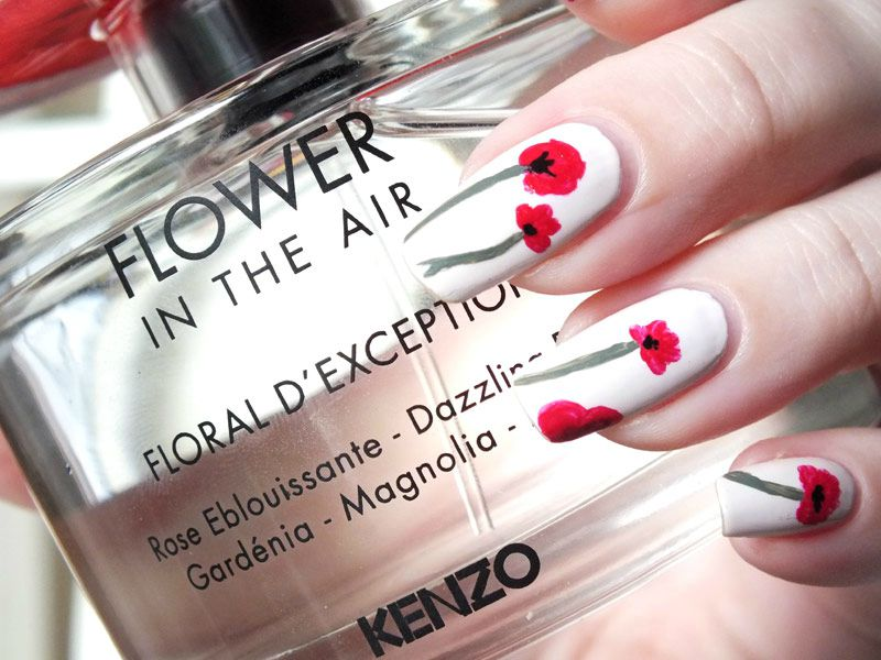 Flower In The Air Nail Art by @thefreckledrose