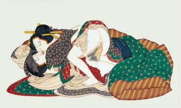 Katsushika Hokusai - Shunga - Couple - p1289