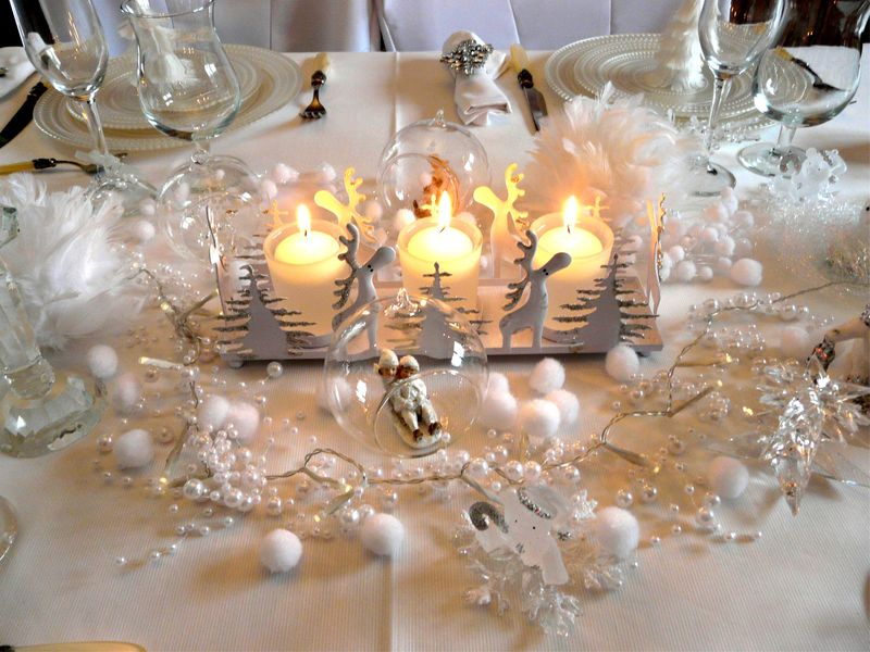 P1030703 photo de table noel blanc immacule deco de tables - Deco table de noel blanc ...