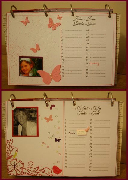 calendrier des anniversaires demonstratrice stampin up. Black Bedroom Furniture Sets. Home Design Ideas
