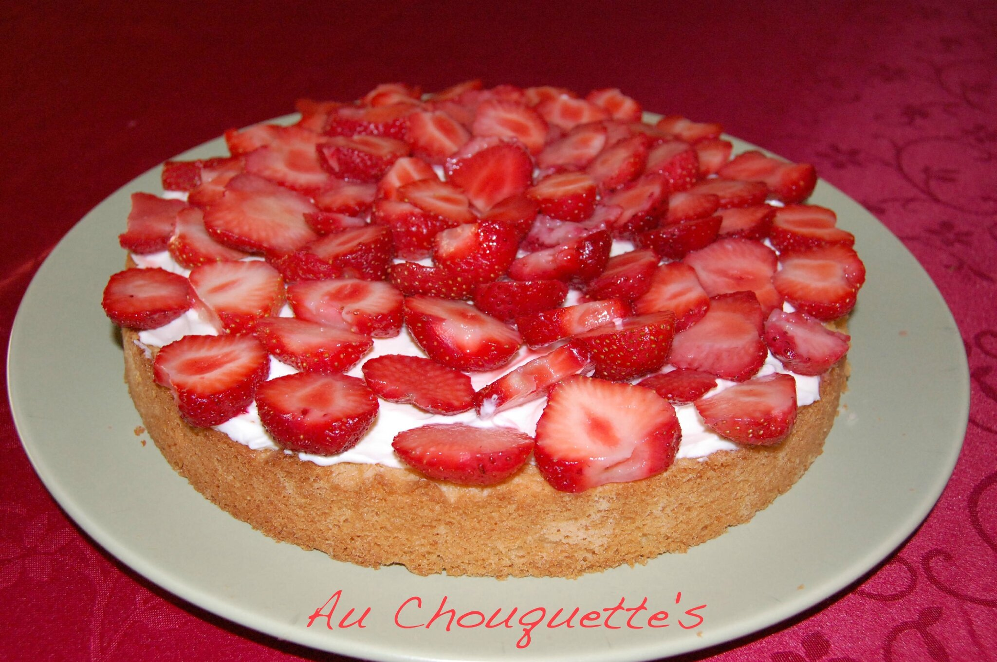 tarte aux fraises cr me mascarpone sabl coco au chouquette 39 s. Black Bedroom Furniture Sets. Home Design Ideas