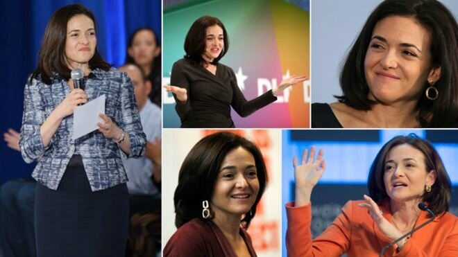 SHERYL SANDBERG 4 PHOTOS