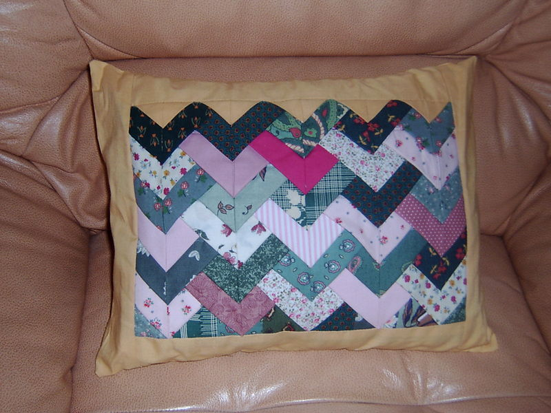 coussin chevrons
