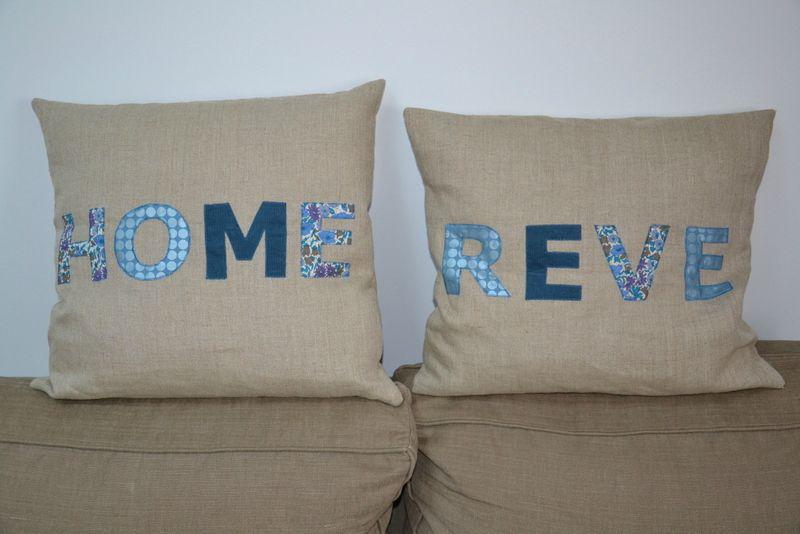 Paire de coussins Home et Reve