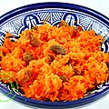 Carottes rapées à l'orange, dattes et raisins secs