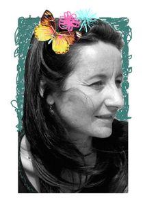 format portrait papillon fleurs