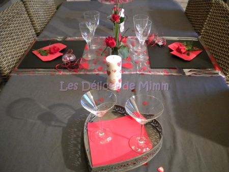 Une table pour la saint valentin les d lices de mimm - Table de saint valentin ...
