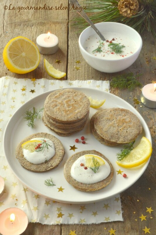 blinis - cream cheese au citron vegan 1